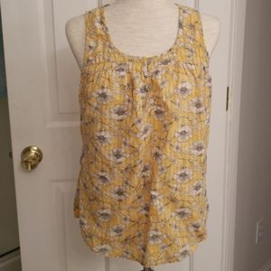 Fat Face Yellow Floral Top